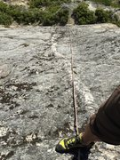 Rock Climbing Photo: Shot down the dike from the top bolt on the route.