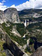 Rock Climbing Photo: Spectacular views of Vernal & Nevada Falls, and Li...