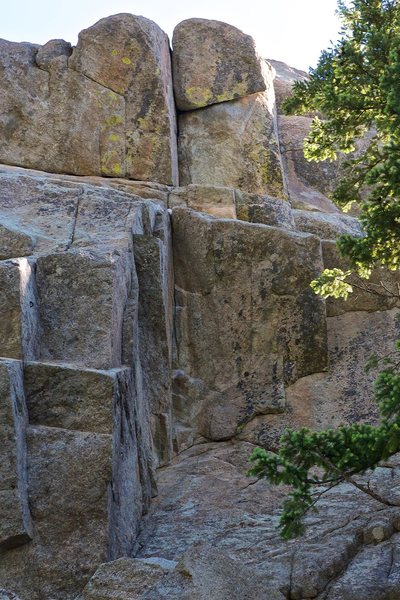 Rock Climbing Photo: From below, no route line.