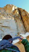 Rock Climbing Photo: Crux in the sun. June 2015