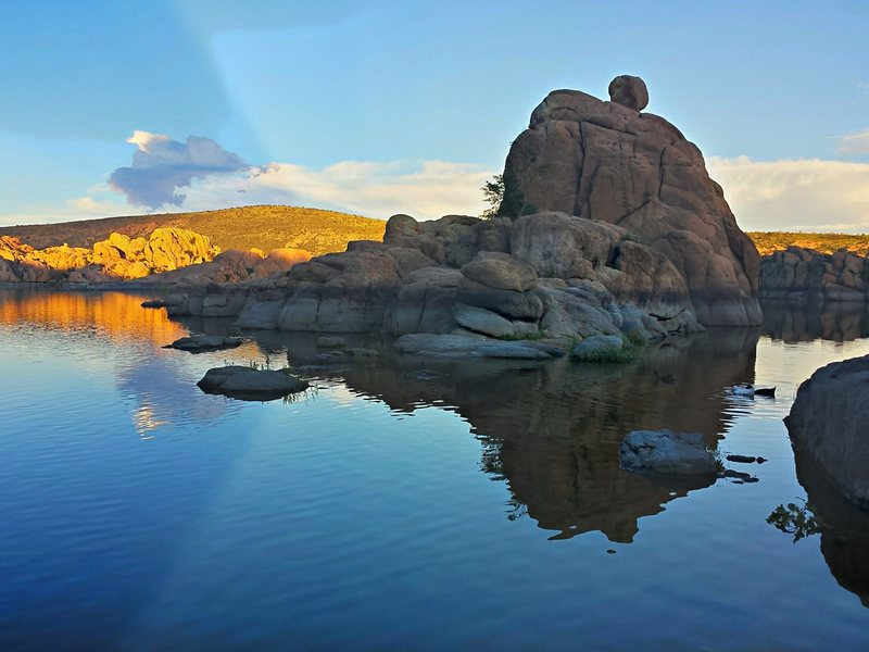 Watson Lake at sundown