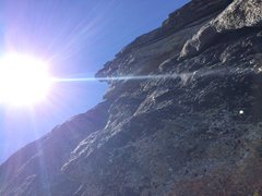 Rock Climbing Photo: P2. Following left flakes.