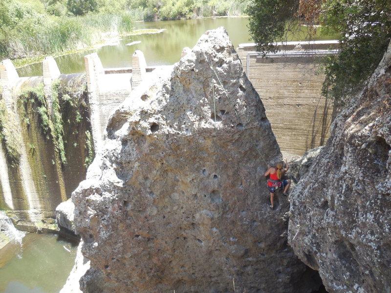 "Rock Climbing Photo: Climbing ""Scarab."""