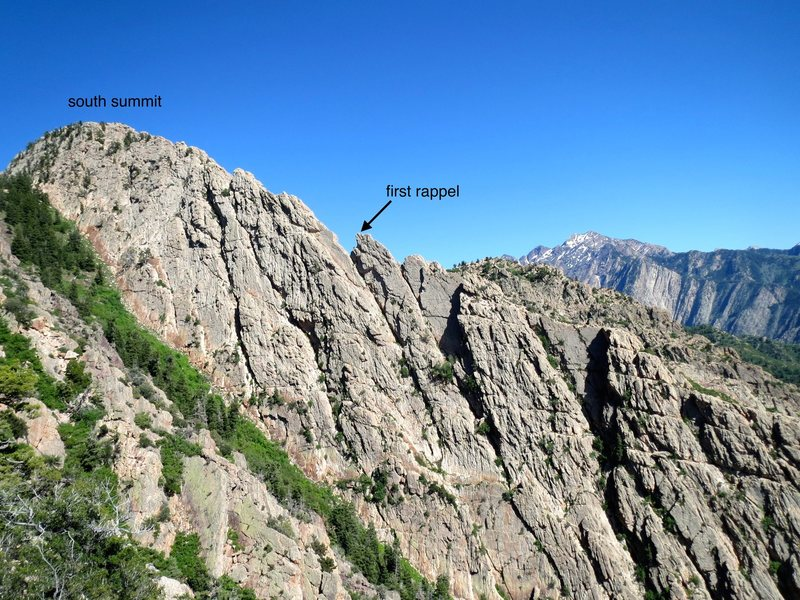 upper geurt's ridge, as seen from top of west slabs