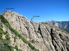 Rock Climbing Photo: upper geurt's ridge, as seen from top of west slab...