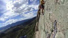 Rock Climbing Photo: The sketchy traverse.