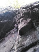 Rock Climbing Photo: The start and Crux