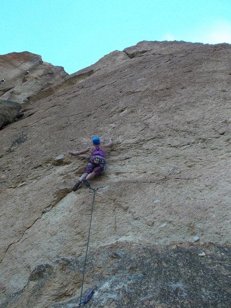 Courtney on the First Ascent of Orion