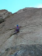 Rock Climbing Photo: Courtney on the First Ascent of Orion