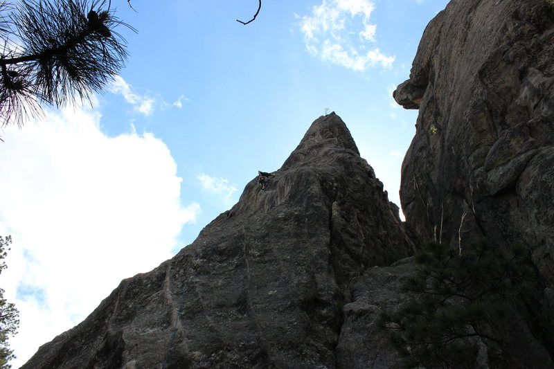 Leading the first pitch of Waves 5.8 R. Scary lead but managed to sling a chicken head.