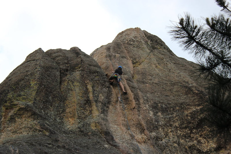 Rock Climbing Photo: At the top of Pelican's Dyke