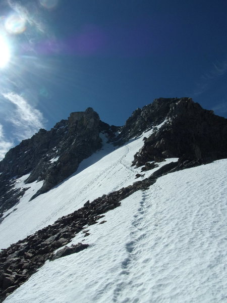 NW Couloir on South Teton, 6-20-15
