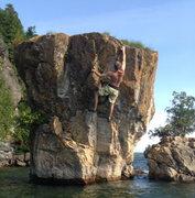 Rock Climbing Photo: The final move