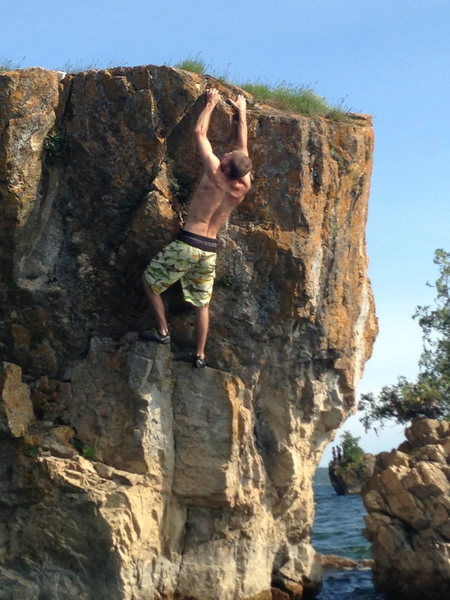 Rock Climbing Photo: Thrust Fault V3+, Lone Rock