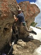 Rock Climbing Photo: This is the boulder on the left which has some eas...