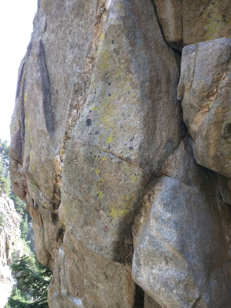 Rock Climbing Photo: The lower section of the purpose. You can make out...