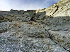 Rock Climbing Photo: First pitch - the long climb.