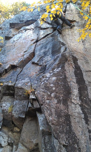 Climbing Mosca on TR.