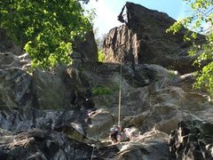 Rock Climbing Photo: Cleaning P2 of this beaut.