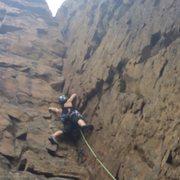 Rock Climbing Photo: leading golden book :)