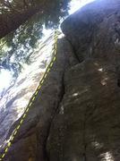 Rock Climbing Photo: Bolt line for Event Horizon