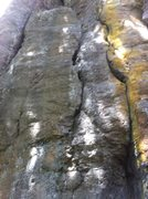 Rock Climbing Photo: Trad crack, lower portion of Lies and Deception
