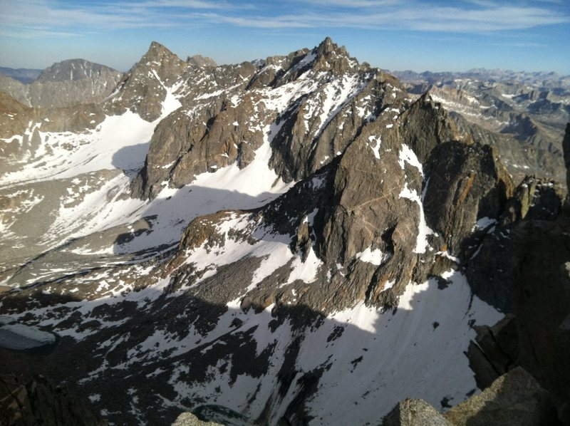 Rock Climbing Photo: The summit view SE from Mt. Agassiz on June 20th a...