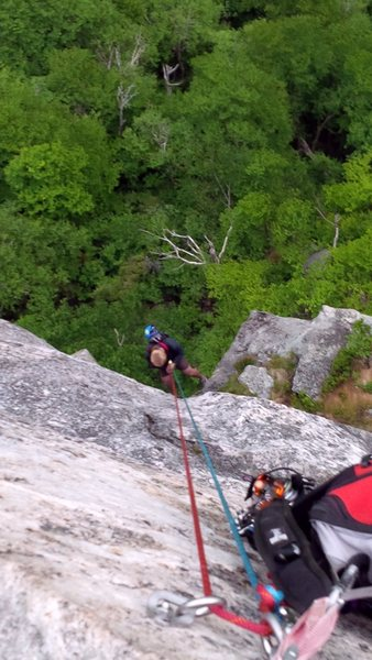 The rappel with doubles