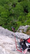 Rock Climbing Photo: The rappel with doubles