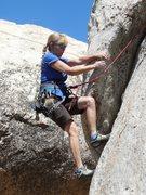 Rock Climbing Photo: Pulling the lieback moves on Jeffrey's Lieback.