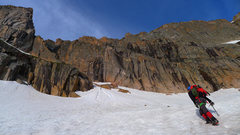 Rock Climbing Photo: The couloir is deeply inset and hidden, hard to no...