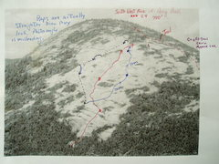"""Rock Climbing Photo: Raps and Alternate """"Route"""" in Blue (one ..."""