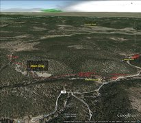 Rock Climbing Photo: Map to get to Boxelder Forks Crag.  There is about...