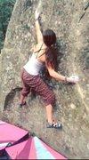 Rock Climbing Photo: Bouldering problem at Lightner Creek.