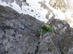 """Rock Climbing Photo: Near the top on the """"Bolt Pitch"""" of the ..."""