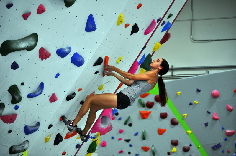 Rock Climbing Photo: Rachel getting after it on the North Boulder