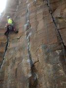 Rock Climbing Photo: KP cruising Cruel Sister