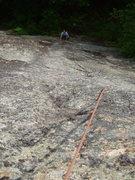 Rock Climbing Photo: Sheila near the bottom