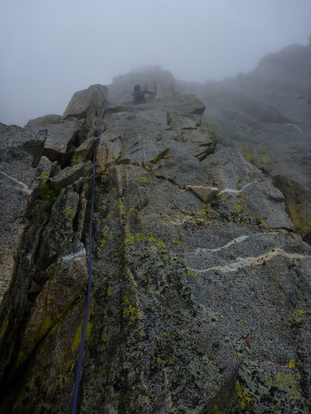 A magical, slightly rainy day on MGA.  Misty and spritzing here and there.  The coolest experience I've ever had in the mountains.
