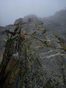 Rock Climbing Photo: A magical, slightly rainy day on MGA.  Misty and s...