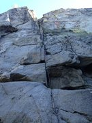 Rock Climbing Photo: Line of route after FA.