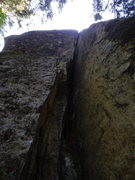 Rock Climbing Photo: The start of the first pitch.