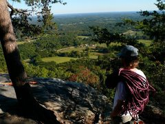 Rock Climbing Photo: An early Fall view from the top of Pepsi