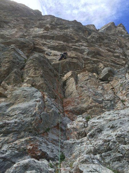 Rock Climbing Photo: Kim on a 5.11- at dentist area