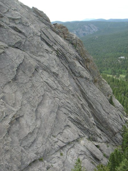Rock Climbing Photo: Looking S from the top of the small pinnacle just ...