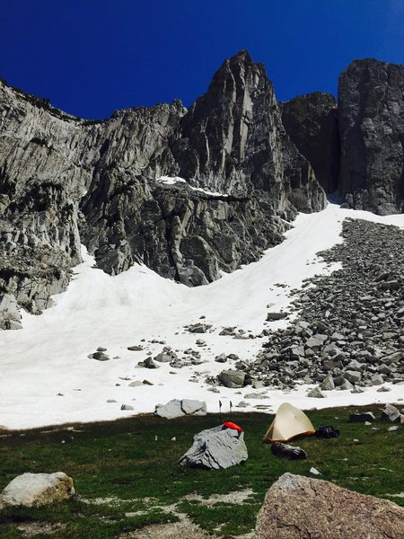Rock Climbing Photo: from camp to lone peak