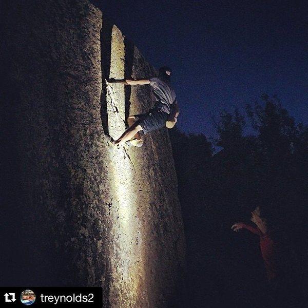 Spotlight ascent of Breashear's Crack II.