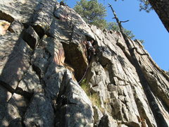 Rock Climbing Photo: 5.6 roof route