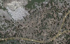 Rock Climbing Photo: Aerial map of boulders.