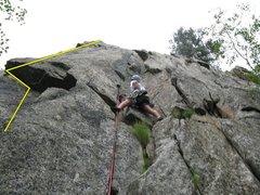 Rock Climbing Photo: Job Corps Crack
